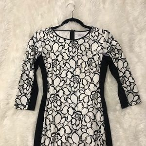 Bisou Bisou Black and White Dress